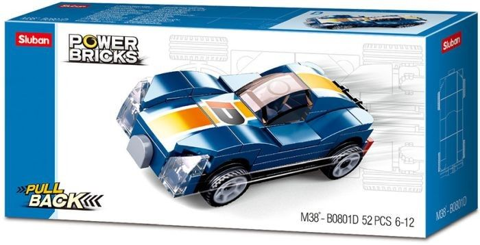 Sluban Power Brick Car Blue Monster
