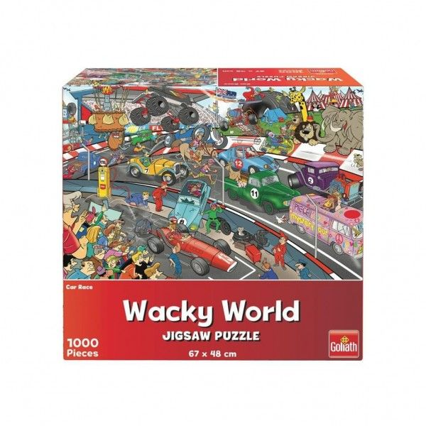 Puzzel Wacky World Car Race (1000)