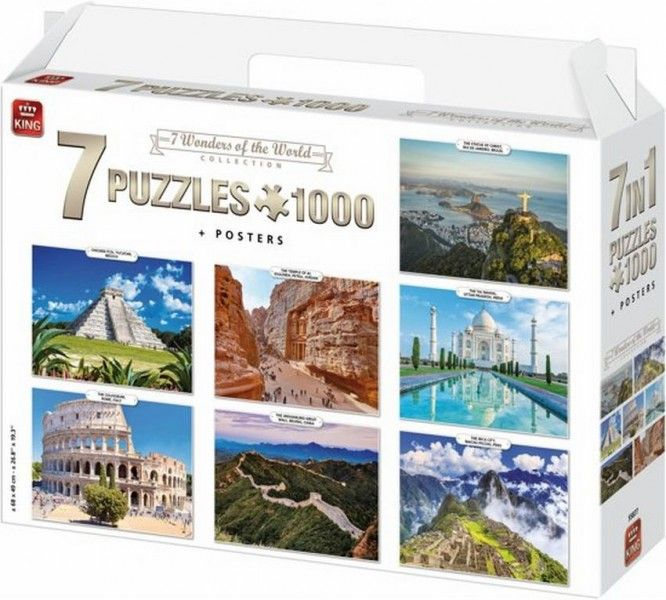Puzzel 7in1 Wonders of the World (7x1000)