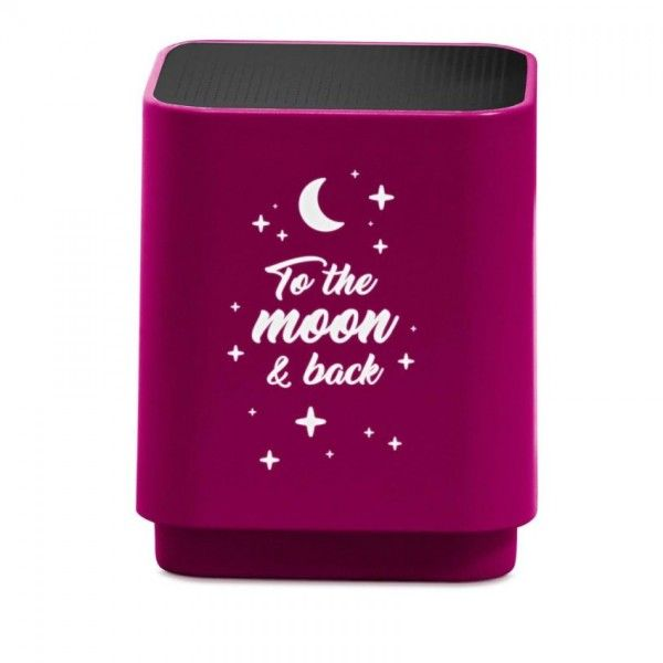 Speaker Bluetooth LED Moon Roze