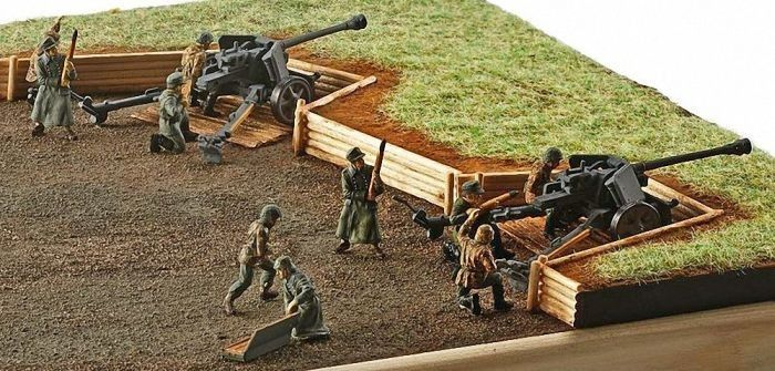 2531 Revell German pak40 with soldiers