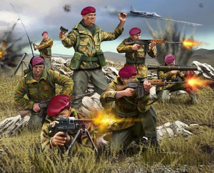 2596 Revell British Paratroopers