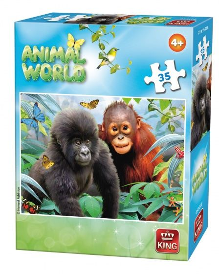 King legpuzzel Animal World apen 35 stukjes