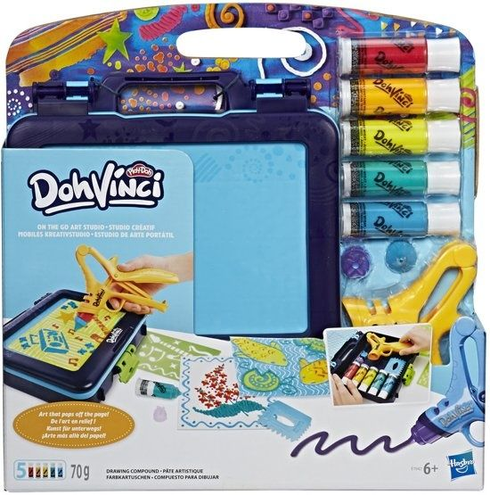 Play Doh Doh Vinci On The Go 16 delig