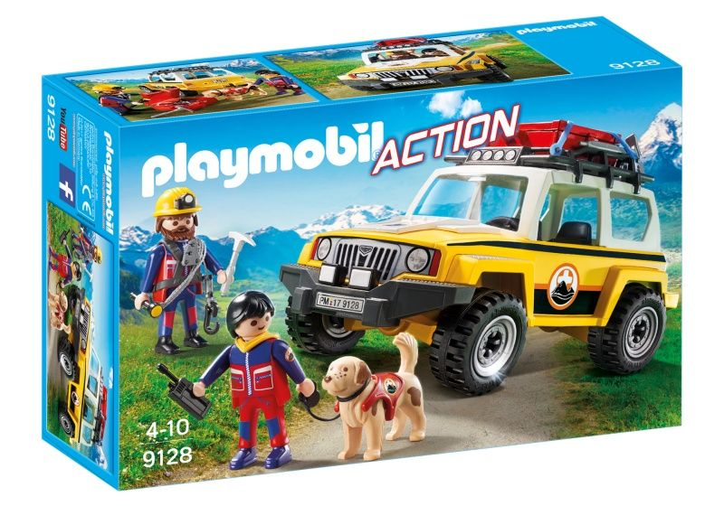 PLAYMOBIL Action reddingswerkers met terreinwagen 9128