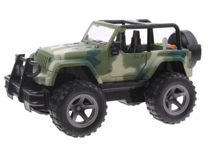 Toi Toys Cross Country Jeep 21 cm groen/camo